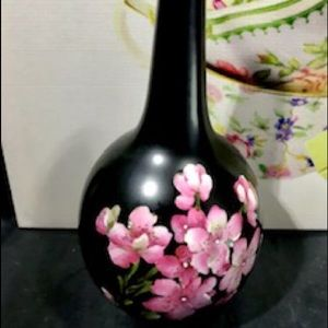 Carlton Ware Vase with Pink Blossom